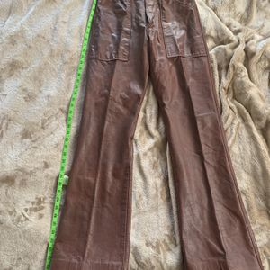 1970s Pristine Brown Leather Bates Riding Pants for Sale in Huntington Beach, CA