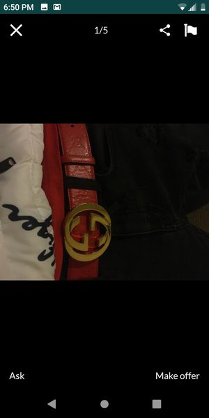 Red Gucci belt 100% real for Sale in Bakersfield, CA