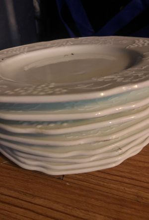 Fenton Dinner plates milk glass white goes with matches for Sale in Sterling, KS