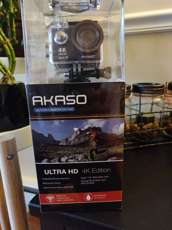AKASO EK7000 4K WiFi Sports Action Camera Ultra HD Waterproof DV Camcorder  12MP 170 Degree Wide Angle for Sale in Quincy, MA - OfferUp