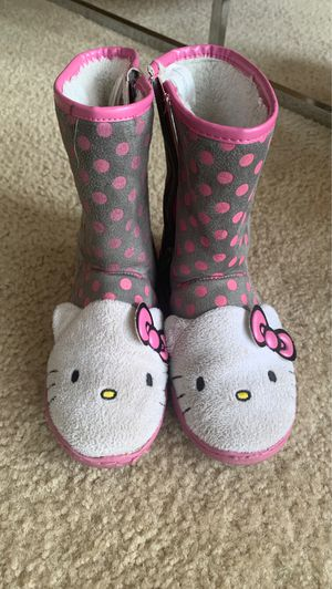 "Girls ""Hello Kitty"" Boots *PRICE REDUCED* for Sale in Kennesaw, GA"