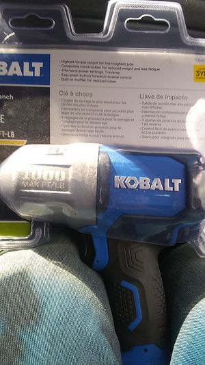 "KOBALT IMPACT 1/2 "" DRIVE AIR MAX TORQUE 1000 for Sale in Portland, OR"
