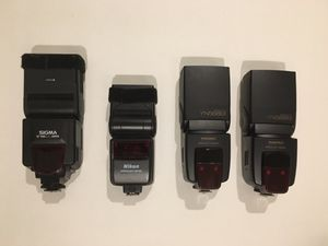FOUR Nikon TTL Compatible Flash Units for Sale in Clemson, SC