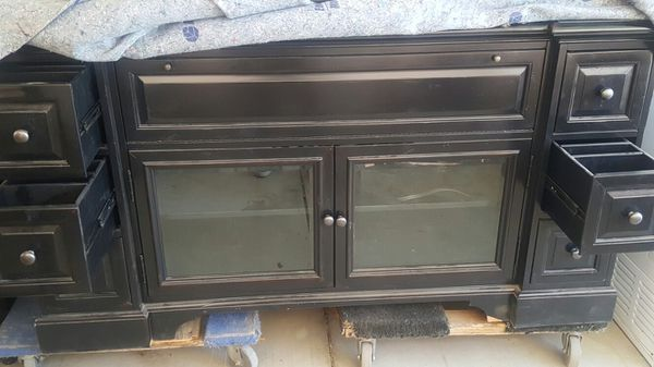 Living room cabinet. Beautiful just needs some cleaning my cause dusty