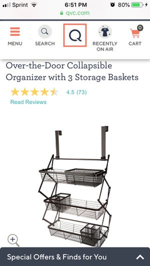 Over-the-Door Collapsible Organizer with 3 Storage Baskets for Sale in Hanover, MD