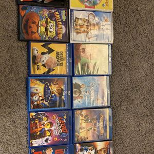 14 Family Movie DVDs & Blu-ray's, No Digitalis, $50 firm for Sale in Buena Park, CA