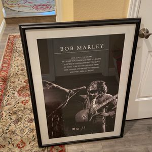 Framed Bob Marley Poster for Sale in Los Angeles, CA