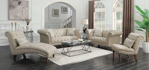 Tufted sofa with nailhead trim ( optional loveseat chaise chair ) for Sale in Miami, FL