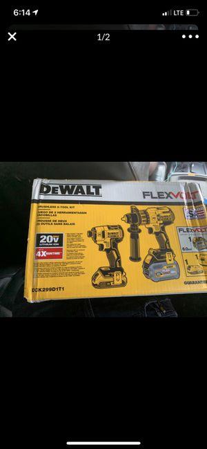Dewalt FLEXVOLT Brushless 2 Tool Kit for Sale in Houston, TX