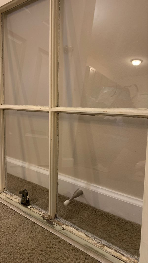 Old window wall decor