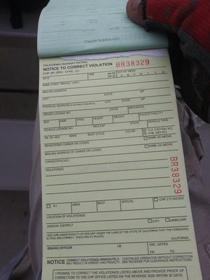 Highway ticket book for gag purpose only for Sale in Banning, CA