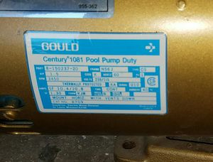 GOULD century 1081 pool pump Duty, 1.5hp 3450rpm Jucuzzi Brand for Sale in Scottsdale, AZ