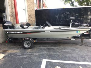 Fisher 1600 Fishing Boat W/ Trailer for Sale in Silver Spring, MD