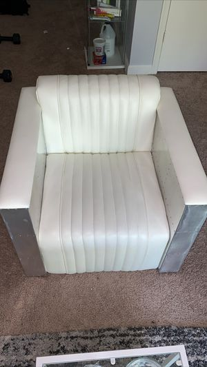 White leather armchair for Sale in Washington, DC