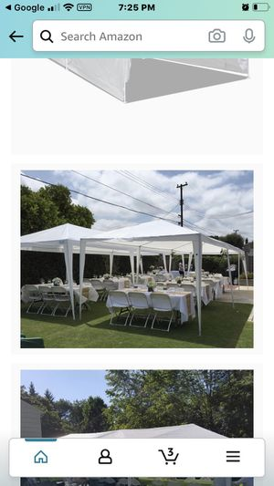 10x30 outdoor wedding tent with sides are new for Sale in Lakeside, TX