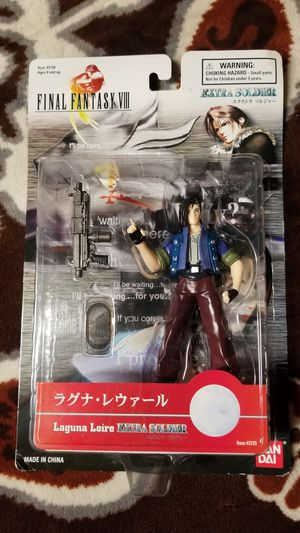 Final Fantasy 8 LAGUNA LOIRE Extra Soldier BAN DAI Collectible Action Figures. Sealed for Sale in Santa Clara, CA