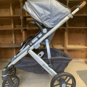 UppaBaby Vista 2017 Blue Merle With Leather Handles for Sale in San Marcos, CA