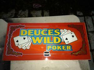 Deuces wild poker slot glass IGT for Sale in Menifee, CA
