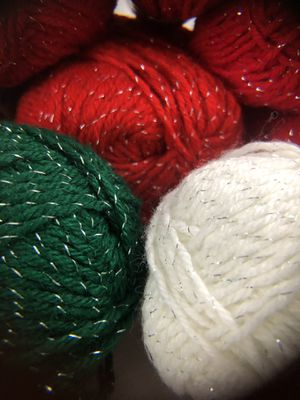 Lot of Caron Worsted Weight Acrylic 4ply Christmas Glitter for Sale in Sumner, WA