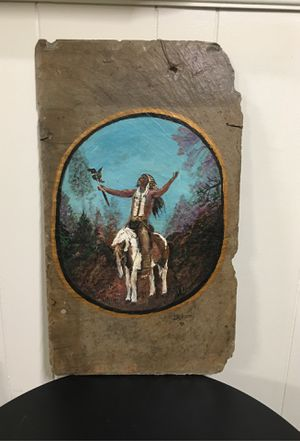 Large Indian chief hand painted slate for Sale in Brunswick, OH