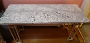Beautiful marble end, buffet, or sofa table with iron base for Sale in Boston, MA