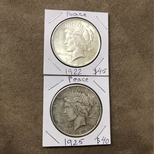 Peace dollar 90% Silver 1922,1925 for Sale in Enterprise, NV