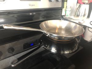 10 inch stainless fry pan copper band Emeril for Sale in Portland, OR