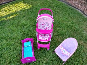 Baby doll set (Includes stroller, crib, and bouncer) for Sale in Orange, CA