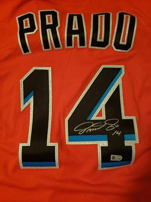 Miami Marlins Autographed Martin Prado Jersey for Sale in Miami, FL