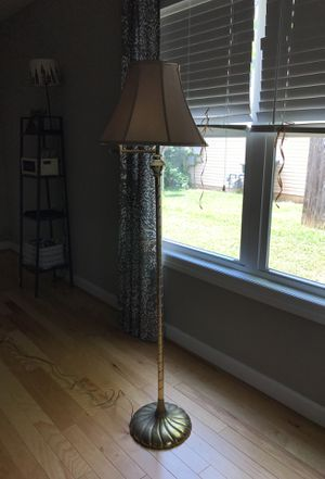 Gold Floor Lamp with Tan Shade for Sale in Nashville, TN