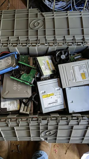Box of misc used computer parts for Sale in Hampton, GA