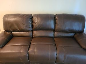 Leather couch/recliner for sale for Sale in St. Louis, MO