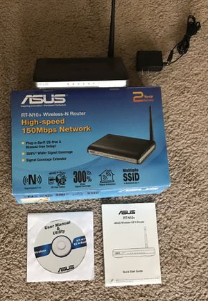 Asus 802.11n Wireless Router for Sale in Flower Mound, TX