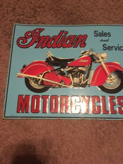 Indian motorcycle sign $10 for Sale in Corbett,  OR