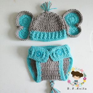Crochet Baby Boy Elephant Costume **Made to order** for Sale in Zephyrhills, FL
