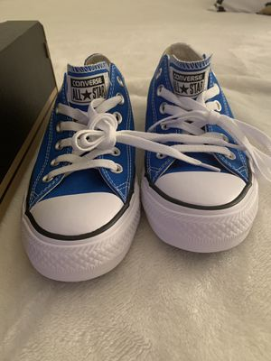 Converse Blue Size 7.5 Women, 5.5 Men's - never worn for Sale in Raleigh, NC