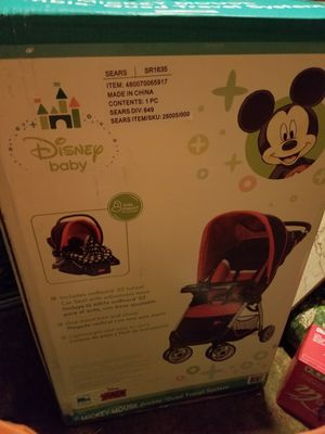 Disney Baby Stroller with detachable carseat brand new in box . for Sale in Gibsonville, NC