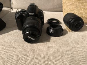 Nikon D5000 w 2 lenses and case for Sale in Pearl City, HI