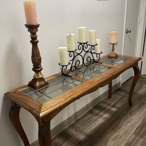 Glass & Wood Console Table for Sale in Oregon City, OR