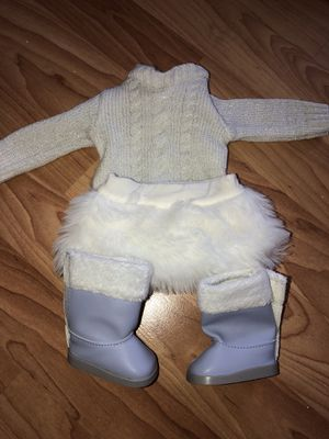 American Girl Doll Sweater, Skirt & Boots for Sale in Lakeside, CA