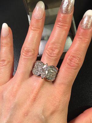 18K White Gold plated Ring - Multi Cut Diamond 💎 💍 for Sale in Sacramento, CA