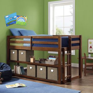 Greer Twin Loft Storage Bed - Brown for Sale in Holly Springs, NC