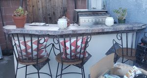 Built in natural gas BBQ with bar stools side burner reefer for Sale in Hacienda Heights, CA