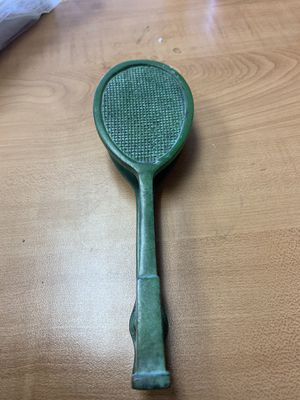 door knocker- tennis racket-brass with/green patina for Sale in Houston, TX