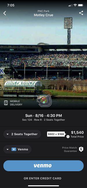 Motley Crue, Def Leppard Stadium Tour Tickets! for Sale in Bridgeville, PA