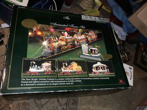 2002 Vintage The Holiday Express Animated Electric Train Set No 387 Santa Xmas G-Scale Gauge 3 cars christmas for Sale in Middletown, NJ