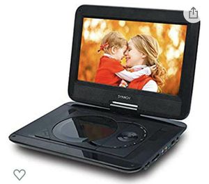 "SYNAGY 12'' Portable DVD Player with 10.1"" HD Swivel Screen, Car Mount Holder, Remote Control, with Built-in Rechargeable Battery for Sale in Rancho Cucamonga, CA"