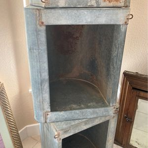 Metal horse trough storage cabinet/shelves for Sale in Rialto, CA
