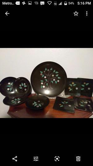 Antique Oriental plate set 9 piece for Sale in Fresno, CA