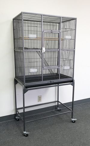 """New $90 Large Bird Cage Parrot Ferret Cockatiel House Gym Perch Stand w/ Wheels 32""""x18""""x63"""" for Sale in South El Monte, CA"""